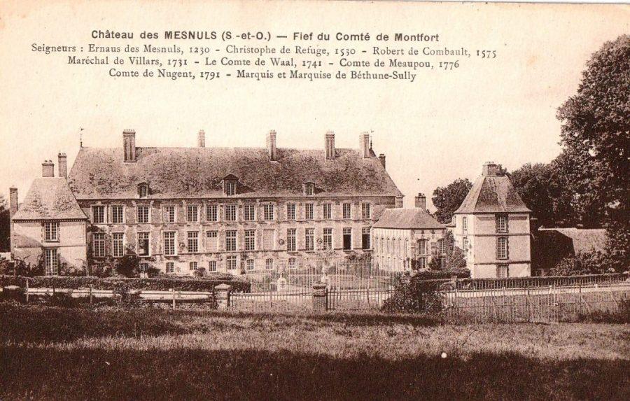 La façade du château au temps des Nugent