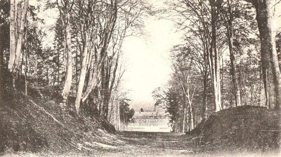 Vue du château depuis la trouée du maréchal de Villars.