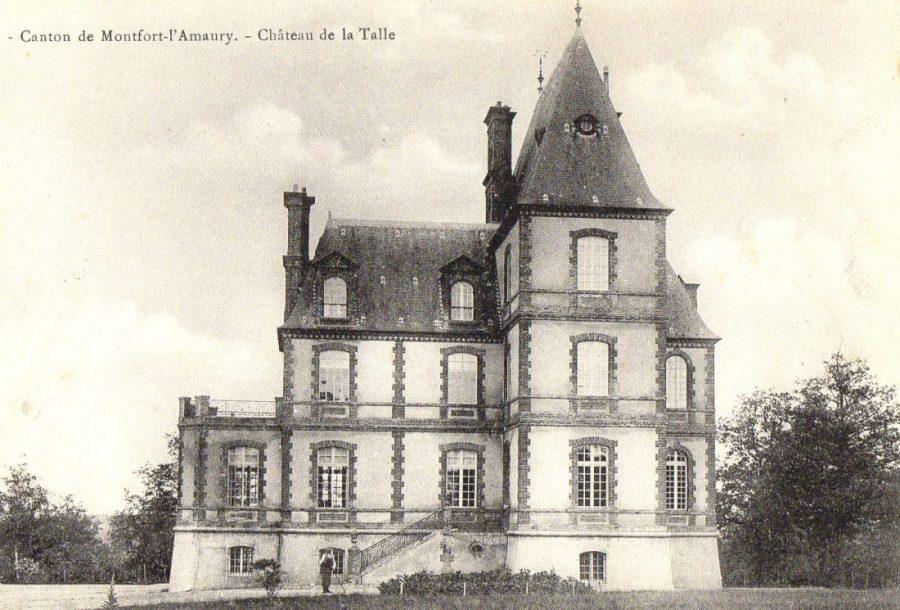 Château de la Talle, toujours aux Mesnuls, construit sur l'ancien domaine des Nugent. Après le décès de Charles en 1881 suivi du partage entre ses enfants, son fils Pierre et l'épouse de celui-ci firent construire cette réplique néo-gothique du château des Mesnuls sur une butte dans la forêt. Finalement, elle sera vendue dans l'entre-guerre, au bout de quelques années.